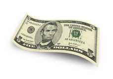 Five dollar Royalty Free Stock Photography