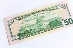 Five dollar bill royalty free stock photo