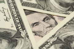 Five dollar bill  background Royalty Free Stock Images