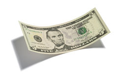 Five Dollar Bill Isolated Royalty Free Stock Images