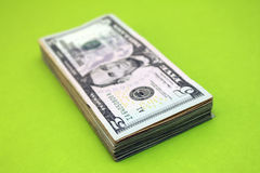 Five dollar bills Royalty Free Stock Photos