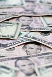 Five Dollar Bills Stock Image