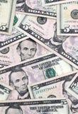 Five Dollar Bills Stock Photography
