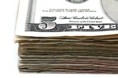 Five Dollar Bills Stock Photo