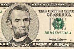 Five-dollar closeup Stock Photo