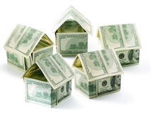 Five dollar cottages Stock Image