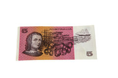 Five dollar note Royalty Free Stock Photos