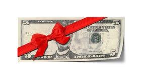 Five dollar voucher. An image of a five dollar voucher Stock Photos