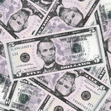 Five dollars background Royalty Free Stock Images