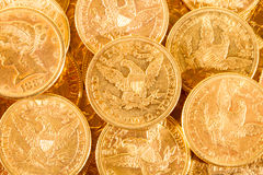 Five Dollars gold coins Royalty Free Stock Images