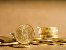 Five Dollars gold coins Royalty Free Stock Image
