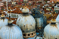 The five domes of St Marks Basilica Royalty Free Stock Image