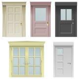 Five doors Royalty Free Stock Photos