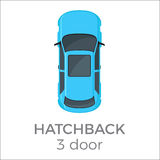 Five Doors hatchback Top View Flat Vector Icon Royalty Free Stock Image
