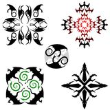 Five dragon patterns Stock Images