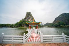 Five dragon pavilion of Seven-star Crags Scenic Area. At Zhaoqing, China royalty free stock images