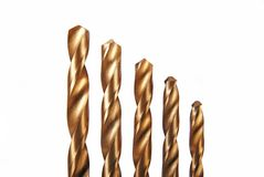 Five drill bits Royalty Free Stock Image