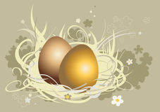 Five Easter eggs Royalty Free Stock Image