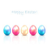 Five Easter eggs Stock Images