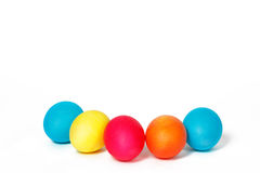 Five Easter eggs. On a white background Stock Images