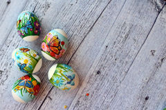 Five easter eggs. On a white background Stock Image