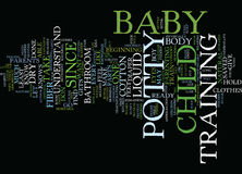 Five Easy Steps To Potty Train Your Baby Text Background  Word Cloud Concept Royalty Free Stock Images