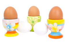 Five eggs Stock Images