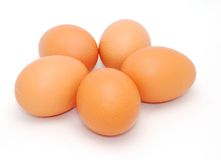 Five eggs royalty free stock image