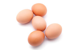 Five eggs Royalty Free Stock Images