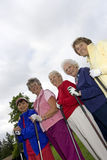 Five Elderly Golfers Stock Photo