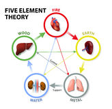 Five Element Theory Stock Photography