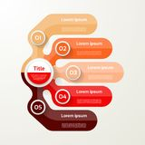Five elements banner. 5 steps design, chart, infographic, step b Stock Photo