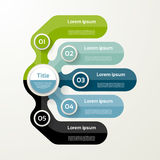 Five elements banner. 5 steps design, chart, infographic, step b. Y step number option, layout Royalty Free Stock Image
