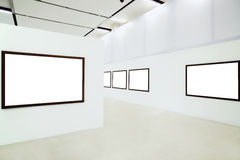 Five empty frames Royalty Free Stock Image