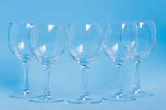 Five empty wineglass Royalty Free Stock Photos