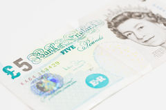 Five English Pounds Stock Images