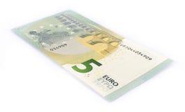 Five euro banknote Stock Photos