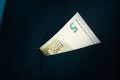 Five Euro bill Stock Photography