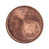Five euro cents Royalty Free Stock Image