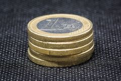 Five  Euro Coin royalty free stock photos