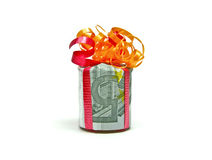 Five euro gift Stock Photography