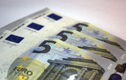 Five euro notes Royalty Free Stock Images