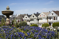 Five famous painted sister houses in san francisco california Stock Photos