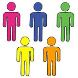Five figures. Five colorful figures on white background Royalty Free Stock Photo