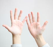 Five finger Stock Images