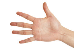 Five finger sign Royalty Free Stock Photography