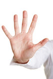 Five fingers of a hand Stock Photos