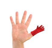 Five fingers. Man's hand. Royalty Free Stock Photos