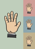 Five Fingers and Palm Hi Five Hand Gesture Vector Illustration Stock Photography