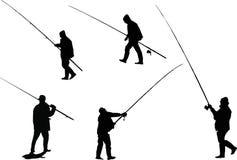 Five Fishermens Royalty Free Stock Photos